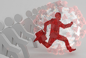 ThinkAdvisor Man Running from COVID-19