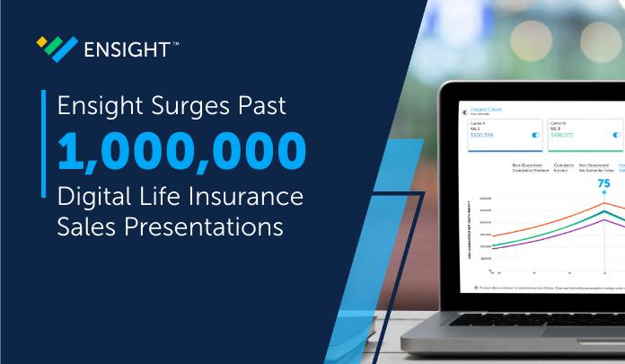 Ensight Surges Past One Million Digital Life Insurance Sales Presentations